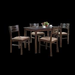 luka 5 pc wooden dining set_190314